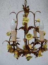 Gilt Leafy  Antique Italian  Chandelier  ,Florentiner Lüster Lampe Rosen