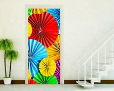 Adhesives Doors Sticker Port Wall Stickers Home Decoration Umbrella Colors P102