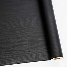 """24"""" X 118"""" Black Wood Self Adhesive Paper Decorative Self-Adhesive Film"""