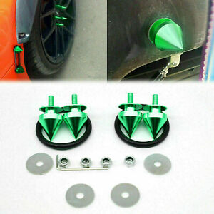 Green Aluminum Spike Quick Release Fastener For Bumper Trunk Fender Hatch Lids