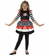 SKULLY GIRL FANCY DRESS SMIFFYS 44288 SKULL HALLOWEEN