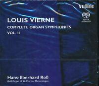 Louis Vierne Complete Organ Symphonies Vol 2 CD NEW Hans-Eberhard Ross SACD