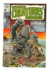 WHERE CREATURES ROAM #3 9.0 // JACK KIRBY COVER ART 1970