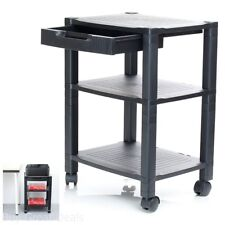 Mobile Printer Stand Organizer Table Rack Office Computer Laptop Cart Roll Desk
