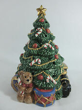 Fitz and Floyd Ceramic Christmas Tree Candle Holder 1994