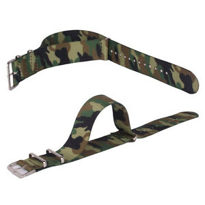 Nylon Watchband Camouflage Printed 18mm 20mm 22mm Watch Strap Wristwatch Bands