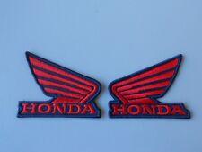 HONDA ALI 2 TOPPE DX SX PATCH RICAMATE TERMOADESIVE BLU ROSSO CM.6x5