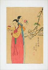 Sophisticated Giclee Print, Famous Korean Traditional Painting, Spring Women