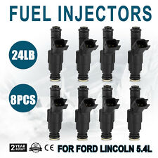 Set 24lbs Set(8) Flow Matched 4 nozzle Fuel Injectors for Ford 5.4L EV6 Look