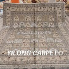 Yilong 9'x12' Large Four Seasons hand craft Carpets Handmade Silk Area Rugs Y72B