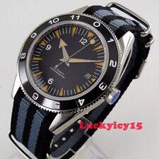 Luxury 41mm black dial sapphire crystal Miyota Automatic movement men's watch