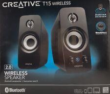 CREATIVE T15 Kabelloses 2.0 Bluetooth Lautsprechersystem BasXPort™ A2DP Line-In