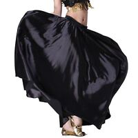 360 Circle Swing Skirt Belly Dance Costume Tribal Satin Long Skirt Flamenco Jupe