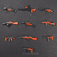 10pcs Custom LEGO Minifigure Toy Guns Military Minifigures Weapon Army Lot New