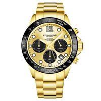 Stuhrling 3961 2 Quartz Chronograph Date Stainless Steel Bracelet Mens Watch