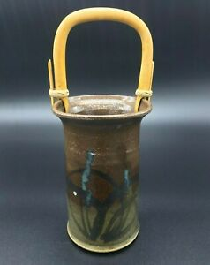 JEFF CHANG Pottery Vase Raku Glaze