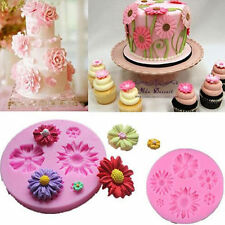 3D Flower Silicone Mold Fondant Cake Decor Chocolate Sugarcraft Mould DIY Baking