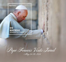 "POPE FRANCIS ""Visits Israel"" Collection, Mayreau Stamps 1 sheet and S/S"