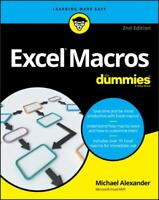 Excel Macros For Dummies For Dummies Computers Paperback Michael Alexander