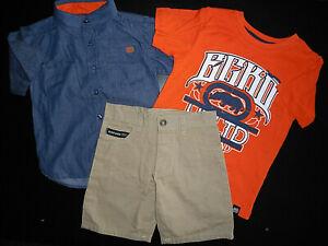 Boys Ecko Unltd. $54 Casual Shirt, T-Shirt & Shorts 3PC Set Sizes 4, 5, 6 & 7