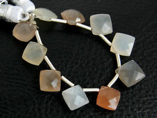 Natural Moonstone Faceted Cushion Briolette Gemstone Beads
