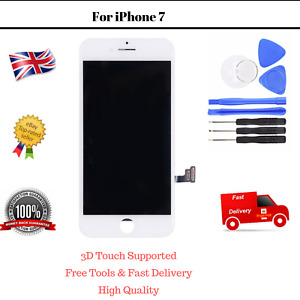 For iPhone 7 White Touch Digitizer LCD Screen Assembly Replacement Display Tools