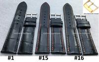 Genuine Crocodile Alligator Leather Watch Strap Band Handmade BLACK 18mm - 24mm