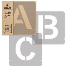 Buchstaben & Zahlen Schablonen / 100mm Sans Große / Alphabet Schriftzug Vorlage