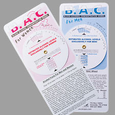 Blood Alcohol Concentration (BAC) Wheel for Men and Women - 250 units ($.65 ea.)