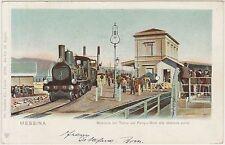 MESSINA - MANOVRA DEL TRENO SUL FERRY BOAT ALLA STAZIONE PORTO 1902