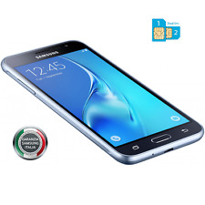 Smartphone Samsung J3 2016 BLACK DUAL SIM 4G Gar 24 Mesi Nuovo J320 + FODERO TPU