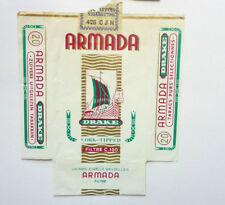 OLD VINTAGE BELGIUM CIGARETTE - TOBACCO PACKET LABEL. ARMADA 20s