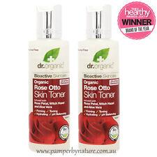 Dr Organic Rose Otto Skin Toner 2 x 150ml - Rose Petal, Witch Hazel & Aloe Vera