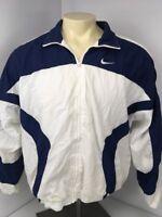 VTG 90s Nike Grey tag Retro full zip windbreaker COLORBLOCK Track jacket Lined M