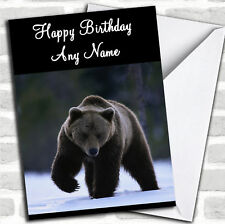 Grisly Brown Bear Personalised Birthday Card