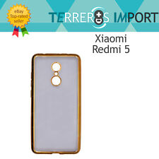 Funda de Gel con Bordes Dorado Forcell Electro Jelly Case Xiaomi Redmi 5