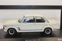 Minichamps 155026200 BMW 2002 TURBO 1973 blanc 1:18 neuf emballage d'origine