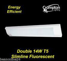 Crompton Double 14W T5 Slimline T5 Fluorescent Light with Diffuser Surface Mount