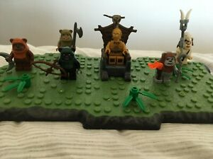 LEGO STAR WARS MINI-FIGURE ENDOR CELEBRATION, LOGRAY, WICKET, TOKKAT, C-3PO LX19