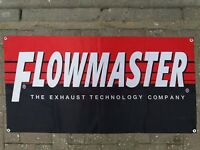 FLOWMASTER Exhausts Mufflers Vinyl Plastic Banner 2x5ft Wall Flag Garage Mancave