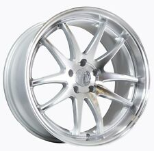 19x9.5/11 Aodhan DS02 5x114.3 +22 Silver w/Machined Face Wheels (Set of 4)