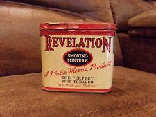 REVELATION TOBACCO TIN POCKET TIN  SMOKING MIXTURE OLD VINTAGE ANTIQUE
