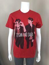 Tegan And Sara T Shirt Small Concert Tee S Red USA Alt Rock Unisex