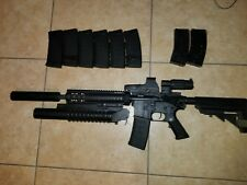 Customized KWA KM4 SR10 AEG, Diamond Tactical Heavy Vest, and other gear.