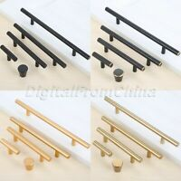 Modern Alloy Drawer Door Pulls Handles T Bar Round Knobs Cupboard Cabinet Closet