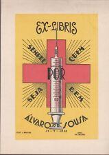ex-libris Alvaro Sousa (seringue) fecit J.Martins 1948