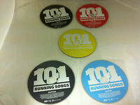 101 Running Songs 5 DISC Music CD 2009 Various Artists - DISCS ONLY in Sleeves