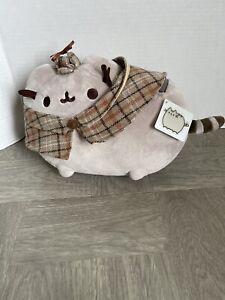 "GUND Pusheen DETECTIVE PUSHEEN Plush Stuffed Animal Cat, 9.5"" New w tags RARE"