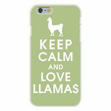 Keep Calm & Love Llamas Silhouette FITS iPhone 6+ Plastic Snap On Case Cover New