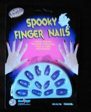 PURPLE SPOOKY FINGER NAILS WITH SPIDER DESIGN